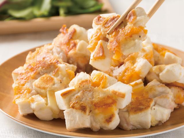 はんぺんと鶏むね肉のふわふわチーズ焼き