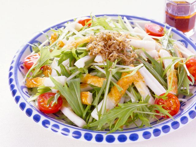 ちくわと水菜のサラダ