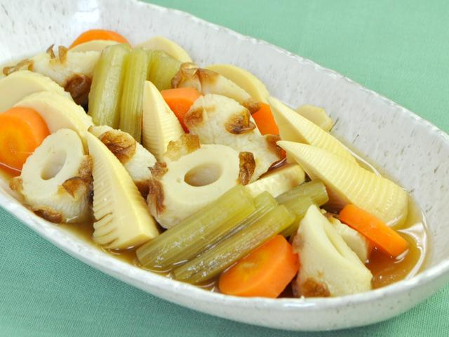 焼ちくわと春野菜の煮物