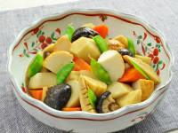 魚河岸あげと野菜の煮しめ