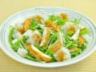魚河岸あげと水菜のサラダ
