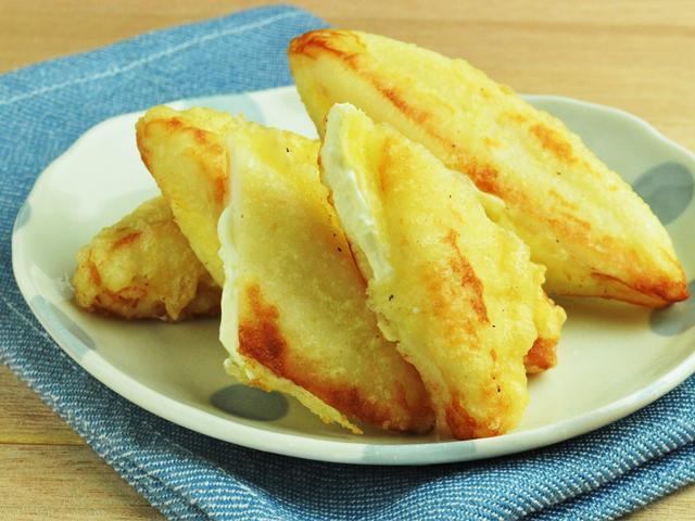 笹かまとクリームチーズのはさみ揚げ