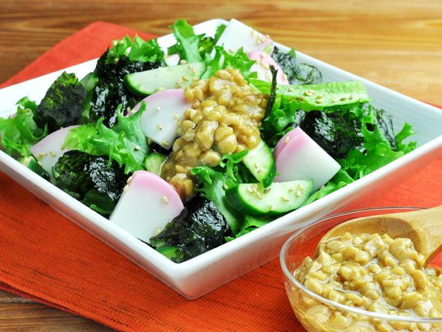 蒲鉾と納豆のチョレギ風サラダのレシピ