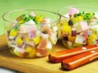 蒲鉾と生ハムのシャキシャキグラスサラダのレシピ