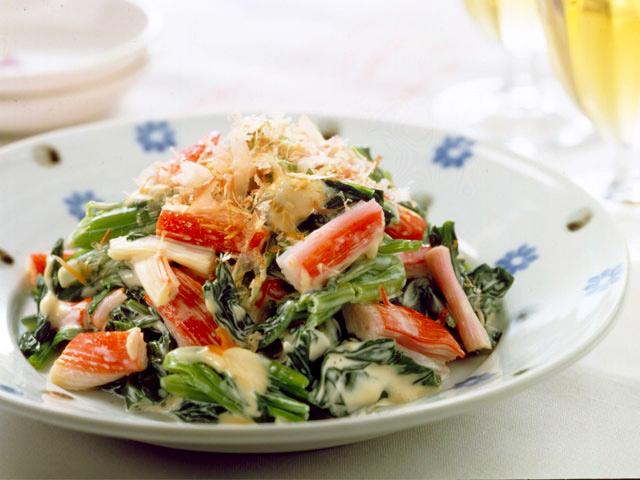マリーンと青菜のおかかサラダ