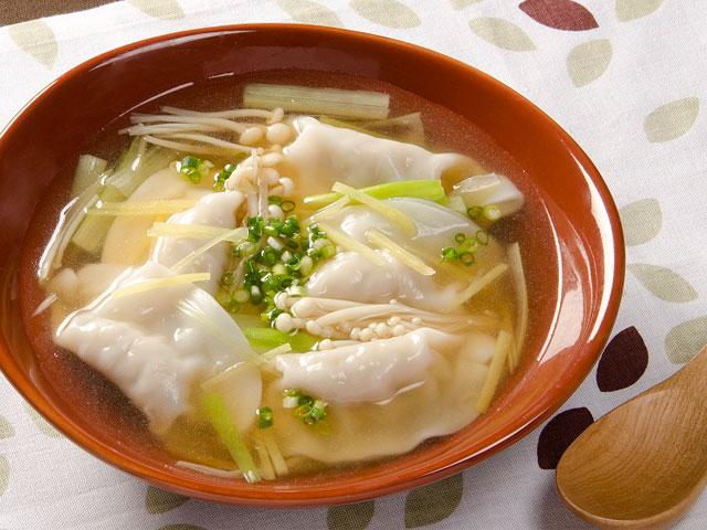 水 餃子 スープ 作り方