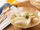 柚子こしょう風味の冷製スープ餃子