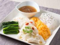 五色の彩りスープ餃子