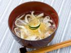 堀知佐子さんの素麺南瓜(そうめんかぼちゃ)とはんぺんのお吸い物