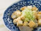 堀知佐子さんの二子芋(里芋)とはんぺんのねぎ油炒め