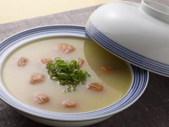 野崎総料理長の揚ボール白菜汁