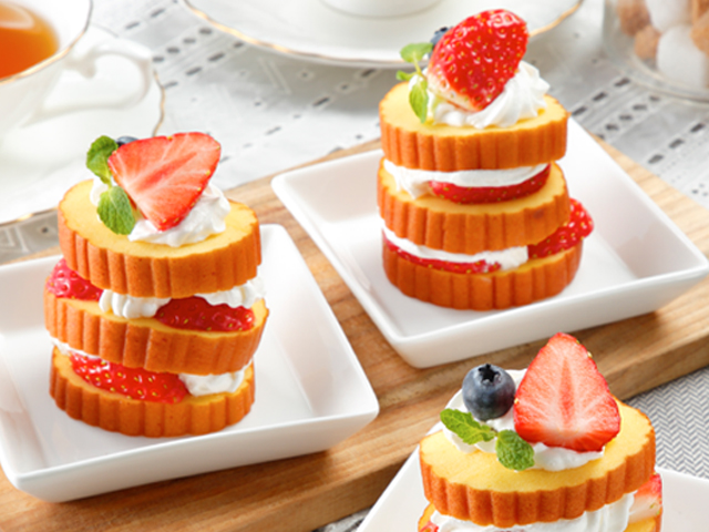 伊達巻のミルフィーユ風デザート