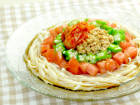 糖質0g麺のぶっかけキムチ 【糖質:13.6g】