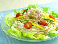 糖質0g麺の冷しゃぶサラダ 【糖質:9.8g】
