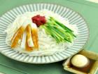 糖質0g麺の梅マヨぽん酢あえ