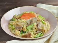 糖質0g麺と豚バラにんにくのがっつり麺